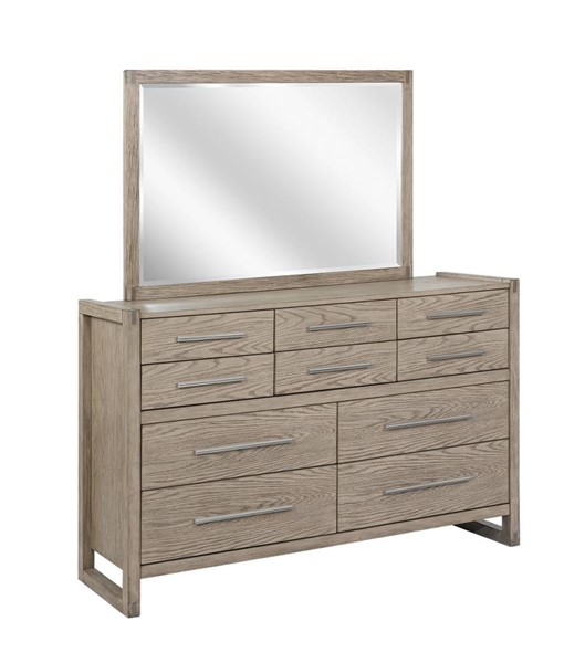 Coaster Furniture Smithson Grey Oak Dresser and Mirror CST-222853-DRMR