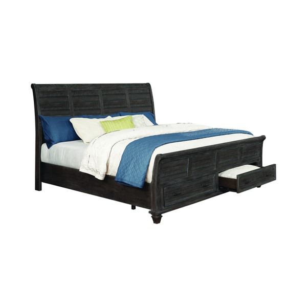 Coaster Furniture Atascadero Weathered Carbon King Bed CST-222880KE