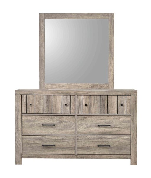 Coaster Furniture Adelaide Rustic Oak Dresser And Mirror CST-223103-DRMR