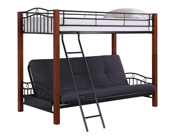 Coaster Furniture Collins Twin Over Full Bunkbed With Futon CST-2249