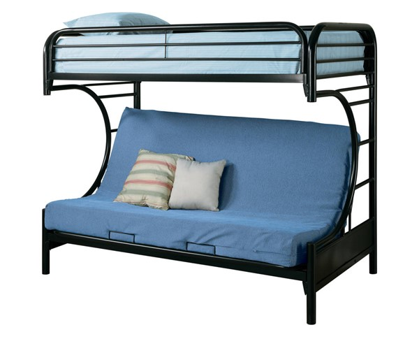 Coaster Furniture Montgomery Black Twin Futon Bunk Bed CST-2253K