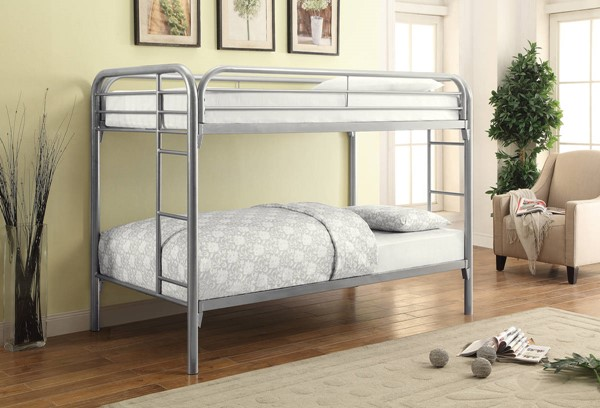Coaster Furniture Morgan Silver Metal Bunk Beds CST-2256-BUNK-VAR