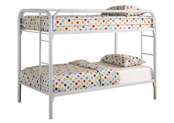 Coaster Furniture Morgan White Metal Twin Over Twin Bunk Bed CST-2256W