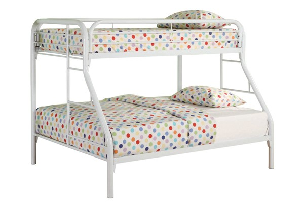 Coaster Furniture Morgan White Metal Twin Over Full Bunk Bed CST-2258W