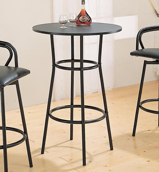 Traditional Black Metal Solid Top Bar Table CST-2383
