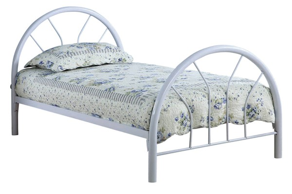 Coaster Furniture Marjorie White Metal Twin Bed CST-2389W