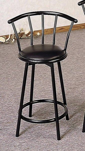 2 Retro Black Metal Low Back Counter Height Stools CST-2395