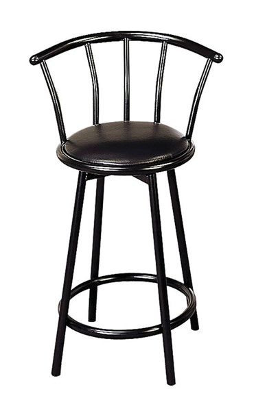 2 Coaster Furniture Black Swivel Counter Height Stools CST-2395
