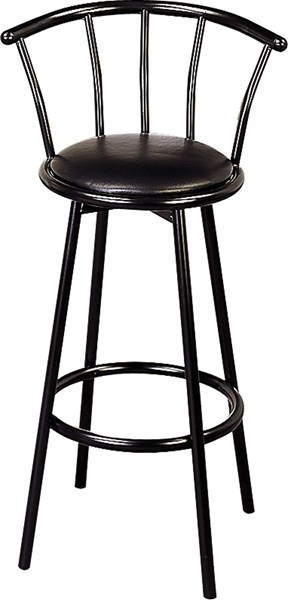 2 Retro Black Metal 29 Inch Height Bar Stools CST-2398