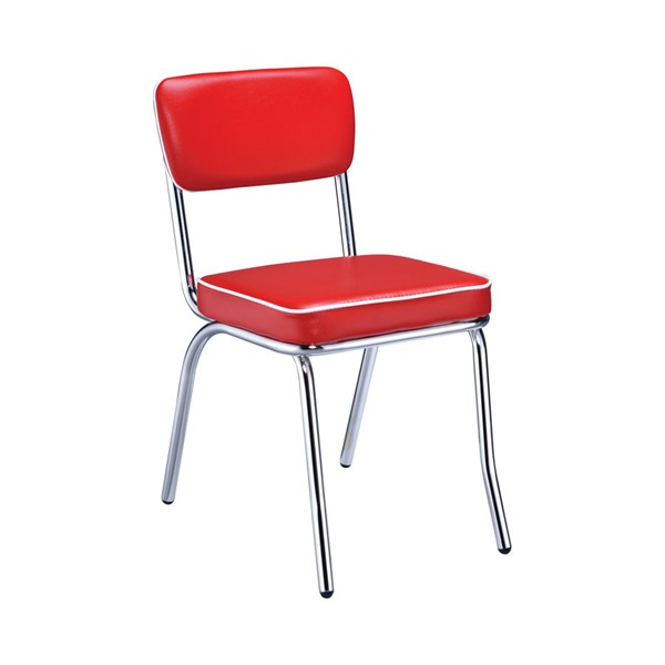 2 Coaster Furniture Retro Red Side Chairs CST-2450R