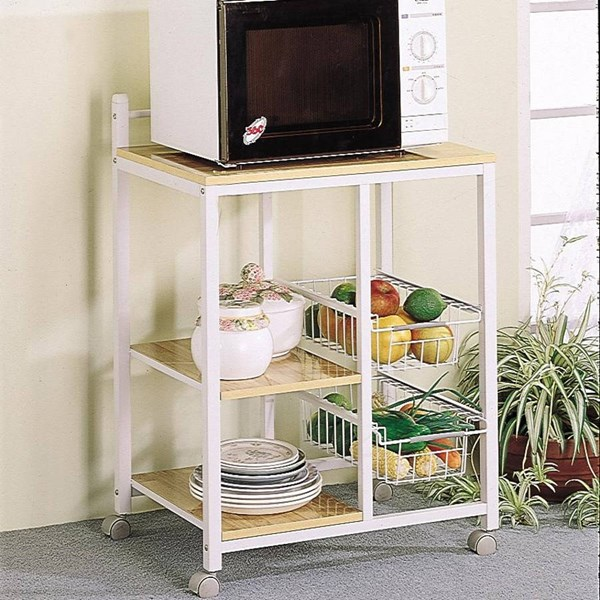Coaster Furniture White Serving Cart CST-2506