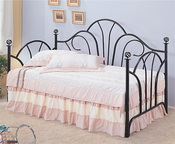 Traditional Black Metal Daybed w/Link Spring CST-2613-C