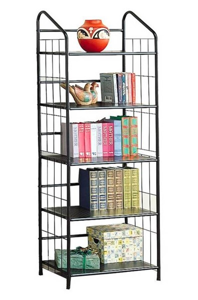 Coaster Furniture Black Metal Wall Recessed Bookcase CST-2895