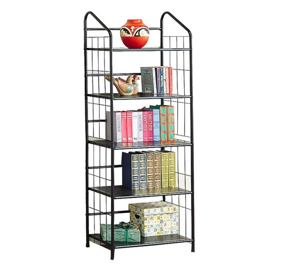 Casual Black Metal Wall Recessed Bookcase CST-2895