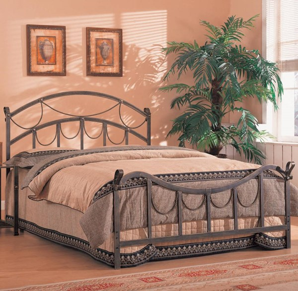 Georgia Transitional Antique Brass Metal Queen Bed w/Bed Frame CST-300021Q-FRAME
