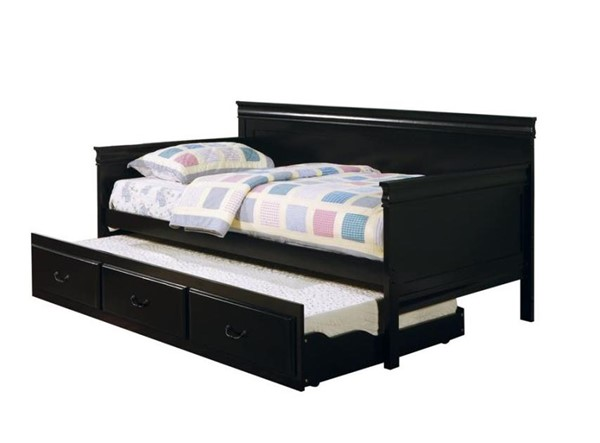Coaster Furniture Black Framed Twin Daybed with Trundle CST-300036BLK