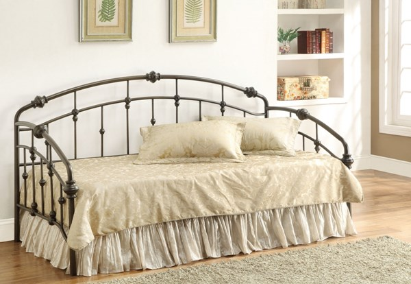 Transitional Black Metal Link Spring Twin Daybed CST-300097-C