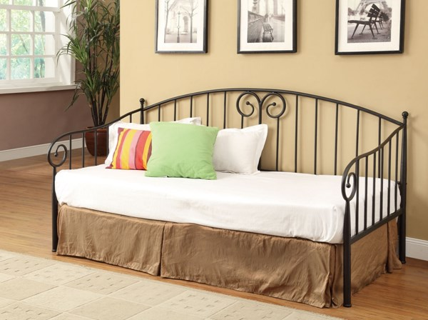 Transitional Dark Bronze Metal Daybed w/Link Spring CST-300099-C
