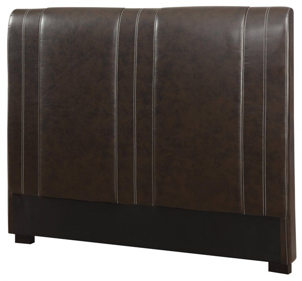 Caleb Transitional Dark Brown Wood Leatherette King Headboard CST-300123KEB1