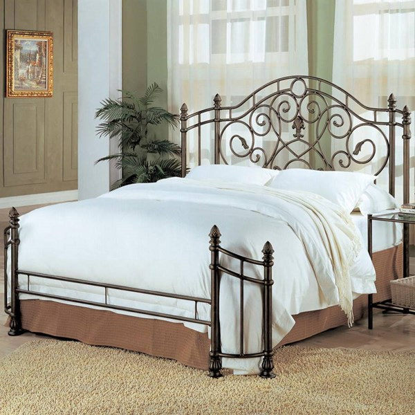 Violet Traditional Bronze Metal Full Bed w/Bed Frame CST-300161F-FRM