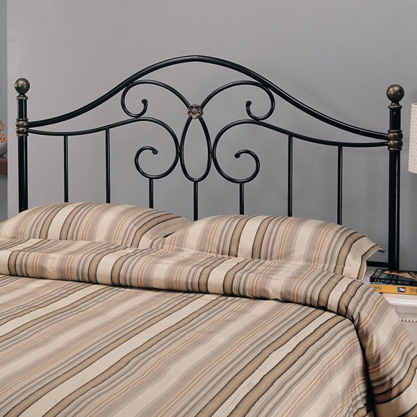 Traditional Black/ Bronze Headboard For Full Or Queen & Bed Frame CST-300182QFS