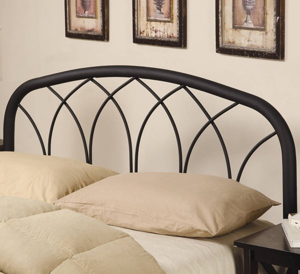Transitional Black Metal Queen/Full Headboard & Bed Frame CST-300184QFS