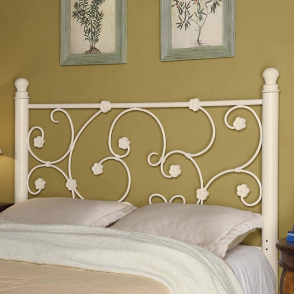 Transitional White Queen/Full Headboard & Bed Frame CST-300185QFS