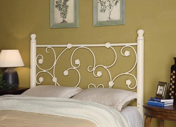 Coaster Furniture White Metal Queen Full Headboard Only CST-300185QF