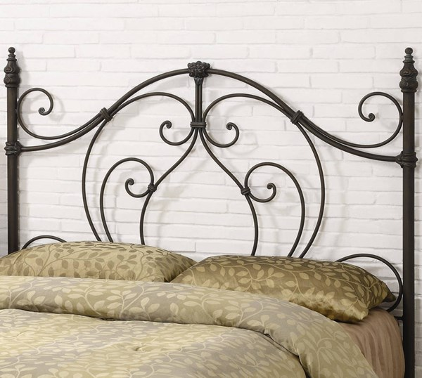 Black Bronze Metal Queen/Full Headboard & Bed Frame CST-300189QFS
