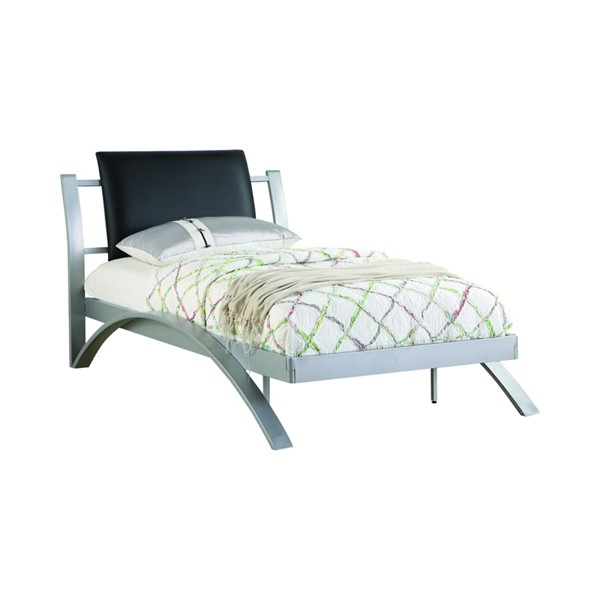Coaster Furniture Silver Black Metal Twin Bed CST-300200T
