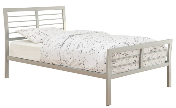 Coaster Furniture Cooper Silver Metal Full Bed CST-300201F