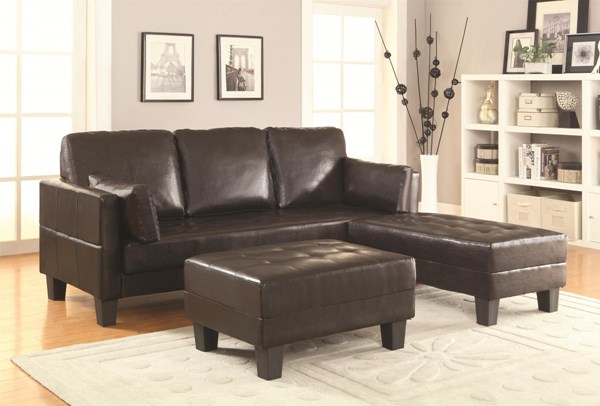 Ellesmere Transitional Brown Faux Leather Sofa Bed CST-300204
