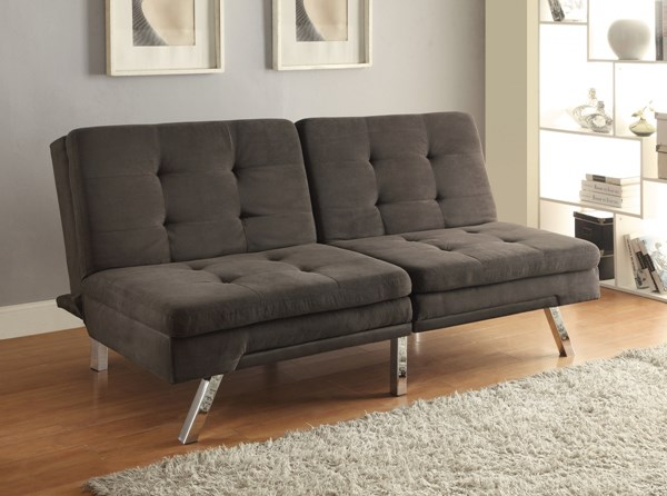 Elegant Charcoal Fabric Tufted Back & Seat Sofa Bed CST-300213