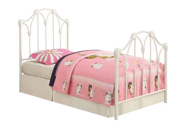 Scarlett Traditional White Metal Twin Bed w/Bed Frame CST-300257T-FRM