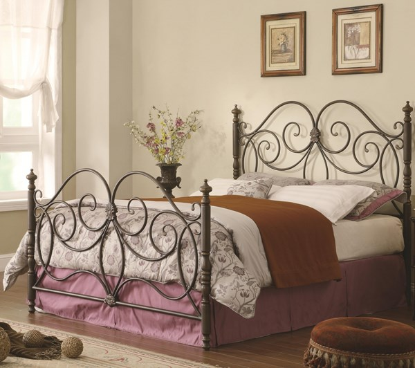 London Traditional Bronze Metal Cal King Bed CST-300258KW