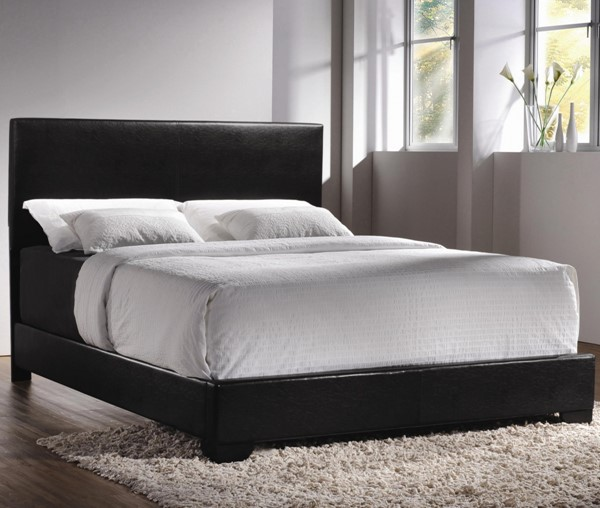 Conner Transitional Black Leatherette Queen Bed CST-300260Q