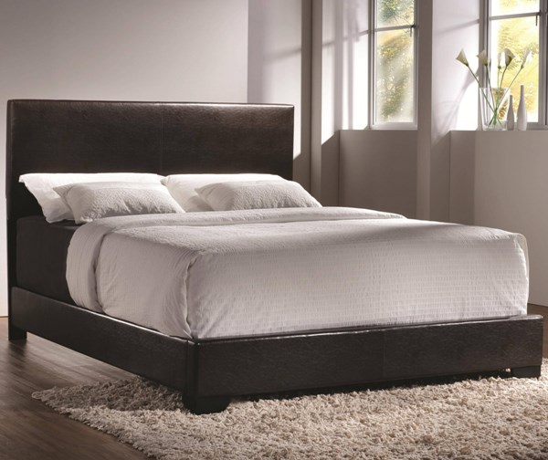 Conner Transitional Dark Brown Leatherette Full Bed CST-300261F