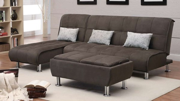 Transitional Brown Fabric 3pc Living Room Set CST-300276-S