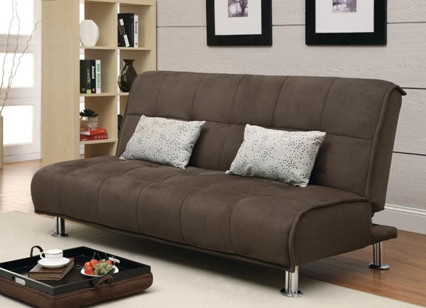 Transitional Brown Metal Fabric Sofa Bed CST-300276