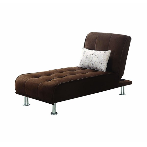 Coaster Furniture Brown Fabric Cushion Back Chaise CST-300277