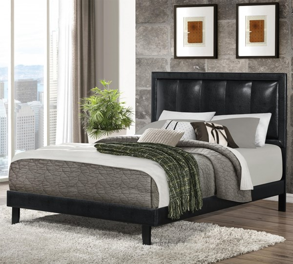 Granados Transitional Black Wood Leatherette King Bed CST-300404KE