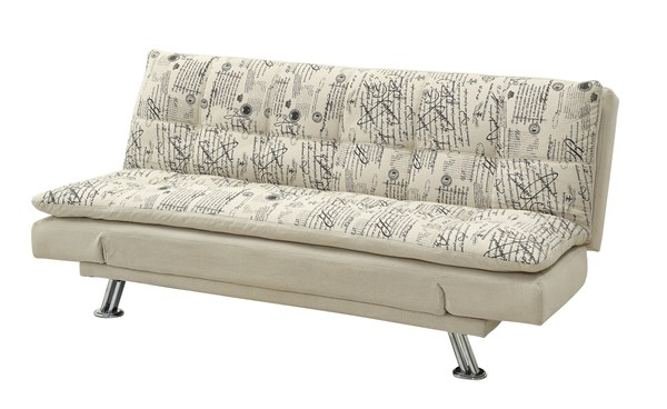 Kay Transitional Oatmeal Fabric Sofa Bed CST-300421