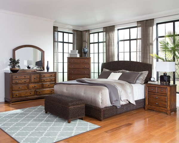 Laughton Dark Brown Wood 2pc Bedroom Set W/King Bed CST-30050-BR-S2