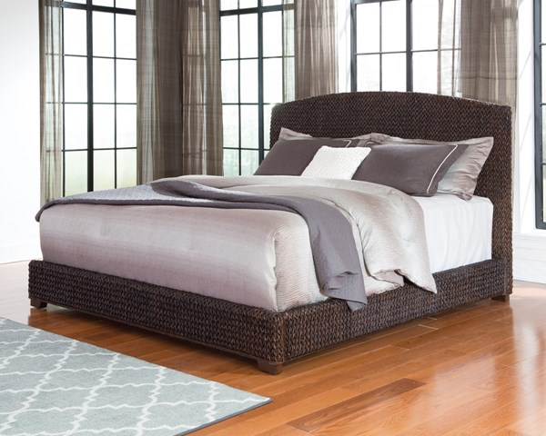 Laughton Dark Brown Wood King Platform Bed CST-300500KE