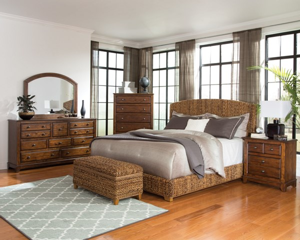 Laughton Natural Wood 2pc Bedroom Set W/King Bed CST-30050-BR-S5