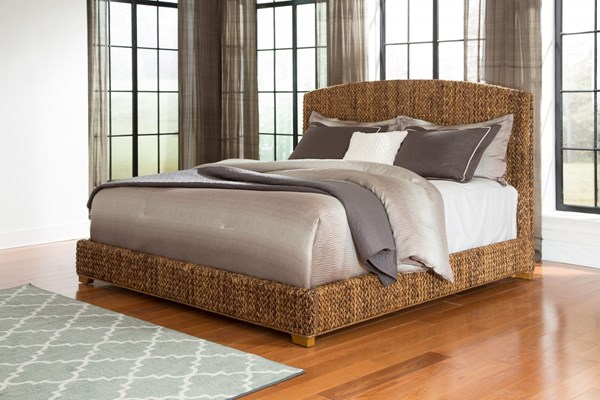 Laughton Natural Wood King Platform Bed CST-300501KE