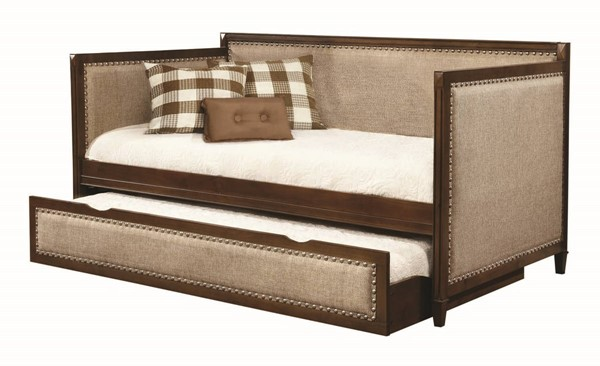 Coaster Furniture Rich Amber Oatmeal Daybed CST-300575