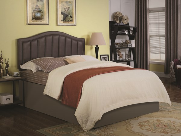 Bassett Brown Leatherette Upholstered Headboards w/Bed Frame CST-301011-BEDS