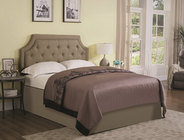 Bentley Brown Grey Fabric Upholstered Headboards w/Frame CST-301020-HDBD-VAR