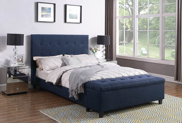 Coaster Furniture Halpert Blue Fabric Full Bed CST-302334F